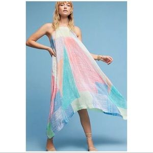 Anthropologie Lilka Annette Rainbow Maxi Dress